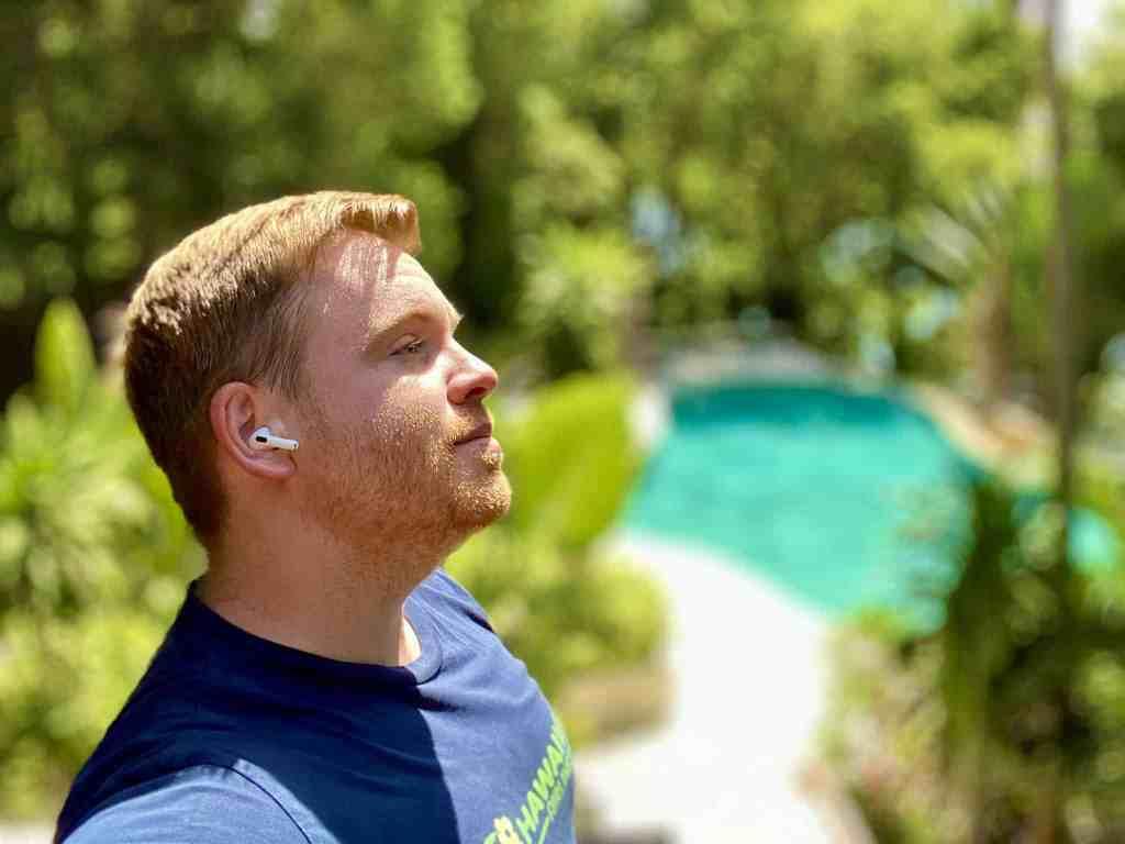 Perfekter Klang: auf Reisen braucht ich nur die AirPods Pro – die Over-war-Kopfhörer waren während des gesamten Urlaubs im Koffer. Foto: Sascha Tegtmeyer
