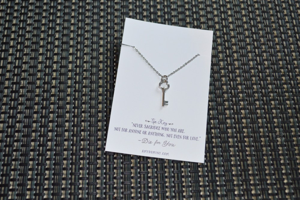 giveaway - necklace - the key - prize