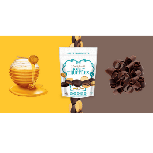 lovely candy company, honey truffle, dark chocolate, honey