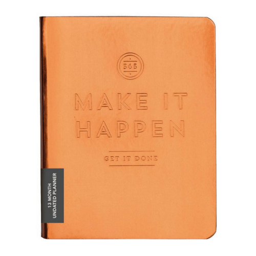 make it happen, daily planner, monthly planner