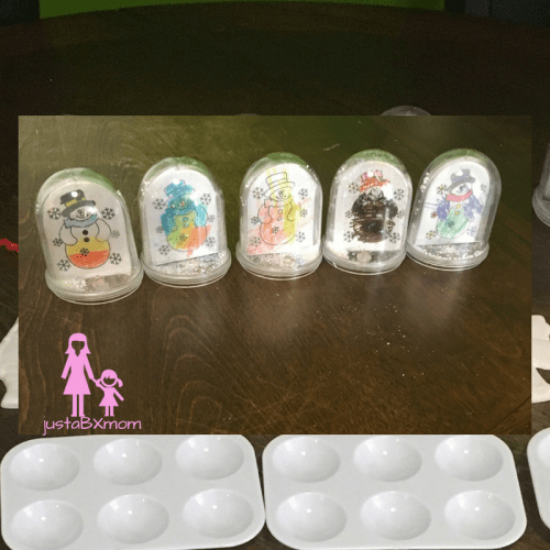 oriental trading, snow globes, snowman snow globes, color your own, arts and crafts