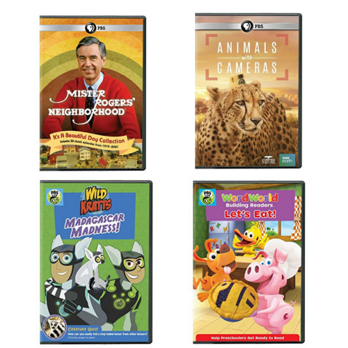 pbs videos, wild kratts, word world, mister rogers, animals with cameras