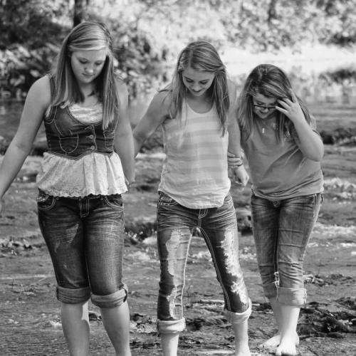 friendship, sisters, hold hands, walking together