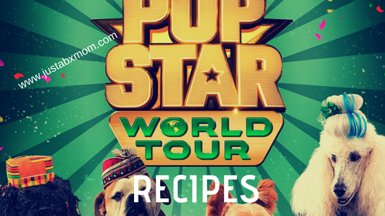 pup star world tour, recipes, naan, mexican corn, nigerian coconut balls, almond cookies