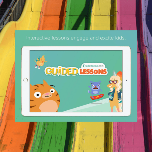 guided lessons, education.com, premium member, online learning