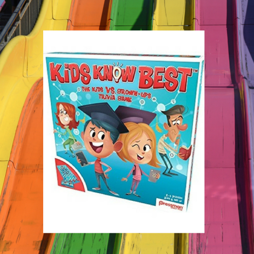 kids know best, trivia game, parent v child, family game night