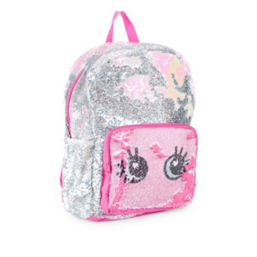 fashion angels, style lab, magic sequins, flip sequins, backpack, bookbag, glitter, sparkle, pink