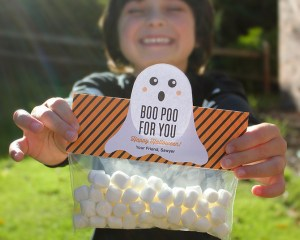 Boo Poo For You Treat Bag Topper with Free Printable