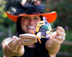 Halloween Witch Pretzel Broomsticks With Free Printable