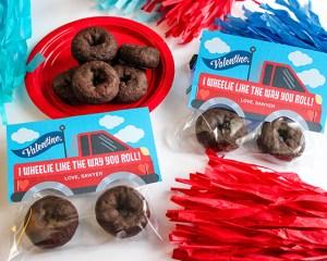 Monster Truck Donut Valentine