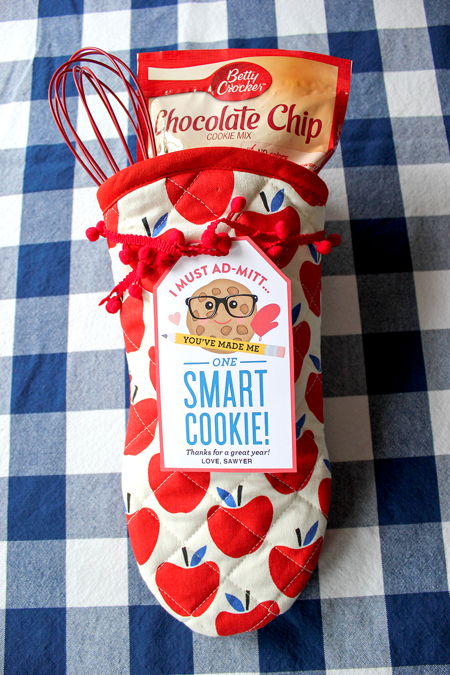 picture about You're One Smart Cookie Printable titled Oven Mitt \