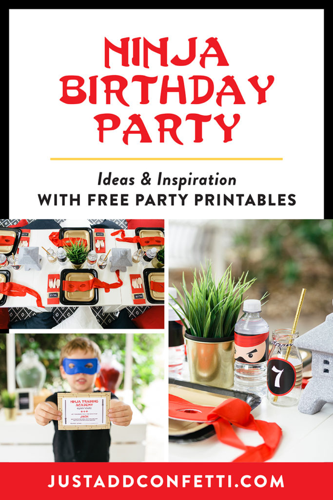 Ninja Birthday Party, party ideas, kids party, friendly ninja party, boy party, kids birthday party, Just Add Confetti, collaboration, My Little Party Australia, Japanese-inspired ninja warrior celebration, collaboration over competition, free printables, free party printables, ninjago birthday, ninjago, ninjago party, ninjago boy party