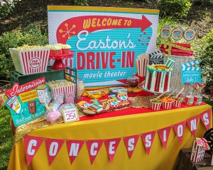 Easton's Retro Drive-In Movie Party