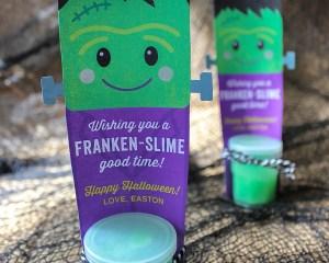 Franken-Slime: Non-Candy Halloween Gift Idea