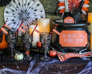 Boos and Bubbly Bar: Halloween Party Idea