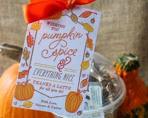 Pumpkin Spice Thanks A Latte Gift Idea