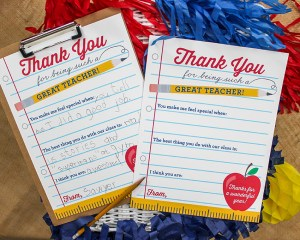 Thank You Note Teacher Appreciation Free Printable