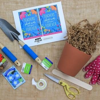 """""""Teachers Plant Seeds That Grow Forever"""" Gardening Teacher Gift"""