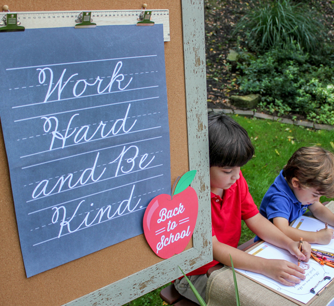 work hard and be kind, back to school party, back to school, school decor, school sign