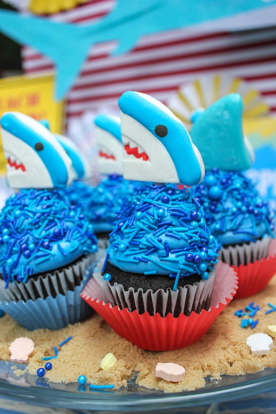 shark party, splash bash, water party, shark waterslide, My Mind's Eye, Just Add Confetti, shark attack, boy party, shark party ideas, shark party decorations, shark party foods, shark party games, jawsome, shark