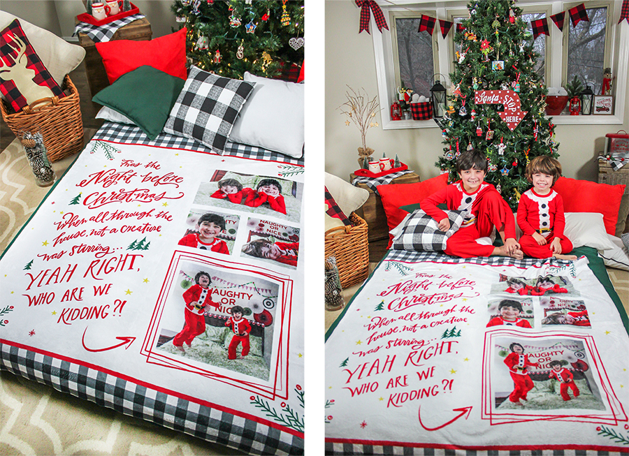 FOTO Vision, twas the night before Christmas, blanket, Christmas blanket, giveaway, brand partnership, blanket giveaway, A Christmas Family Tradition + Unique Gift Idea + Giveaway!, gift blankets, photo gift blankets, Just Add Confetti, Christmas traditions, Pittsburgh blogger, family, Family traditions,