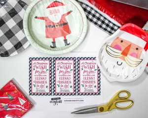"""Less Dishes"" Paper Plate Christmas Gift Idea"