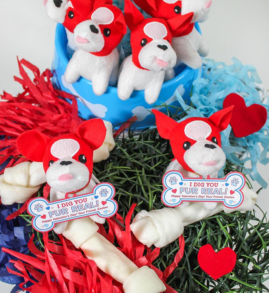 dog tag kids valentine, I dig you, fur real, I dig you fur real, dog, dog kids valentine, classroom valentine, dog valentine, Just Add Confetti, free printable, etsy shop, puppy, dog bone, dog tag, kids valentine, school valentine, Valentine's Day, plush dog, plush puppy,