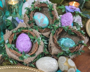 Scrapbook Paper and Twine Wrapped Easter Egg Craft