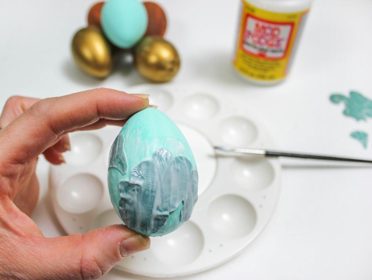 Easter eggs, Easter egg craft, craft eggs, Woodland Easter eggs, nature inspired Easter eggs, nature inspired Easter decor, mod podge eggs, scrapbook paper eggs, twine wrapped eggs, eggs, Easter eggs, decor eggs, craft eggs, DIY eggs, Just Add Confetti