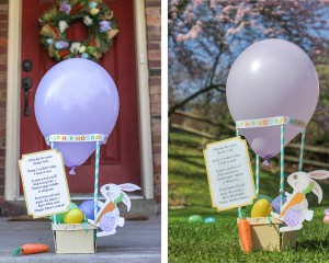 Surprise Easter Egg Hunt Doorstep Drop-off Idea (via Bunny Express Air Mail, of course)!