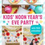 Noon Year's Eve Party, Kids' Noon Year's Eve Party, kids party, noon year, New Year's Eve, before the moon, celebrate at noon, ring in the noon year, ring in the new year, party printables, Just Add Confetti, at-home party, at-home celebration, pajama party, brunch, breakfast, new years eve, new years, new year, wish upon a star, ring pop