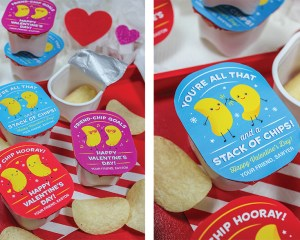 """""""You're All That and a Stack of Chips"""" Pringles Kids Valentine Idea"""