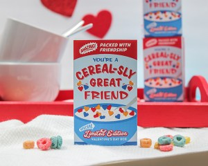 Mini Cereal Box Kids Valentine