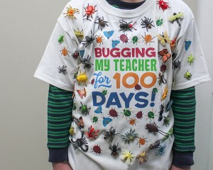 100 Days of School Shirt Idea with Free Printable Iron On Transfer Art