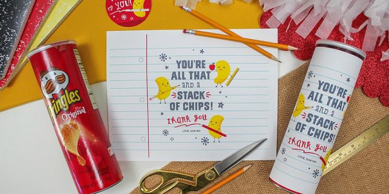 Pringles Chips Teacher Appreciation Gift Idea