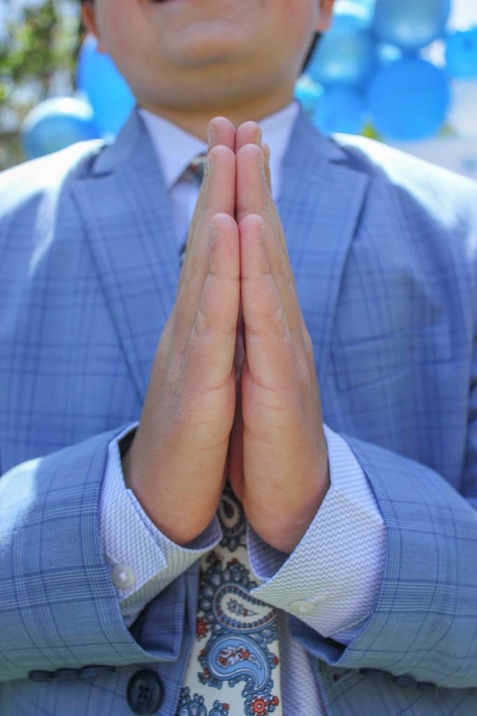 praying hands first holy communion celebration
