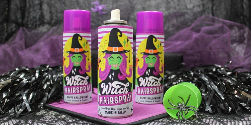 Witch Hairspray Silly String Halloween gift