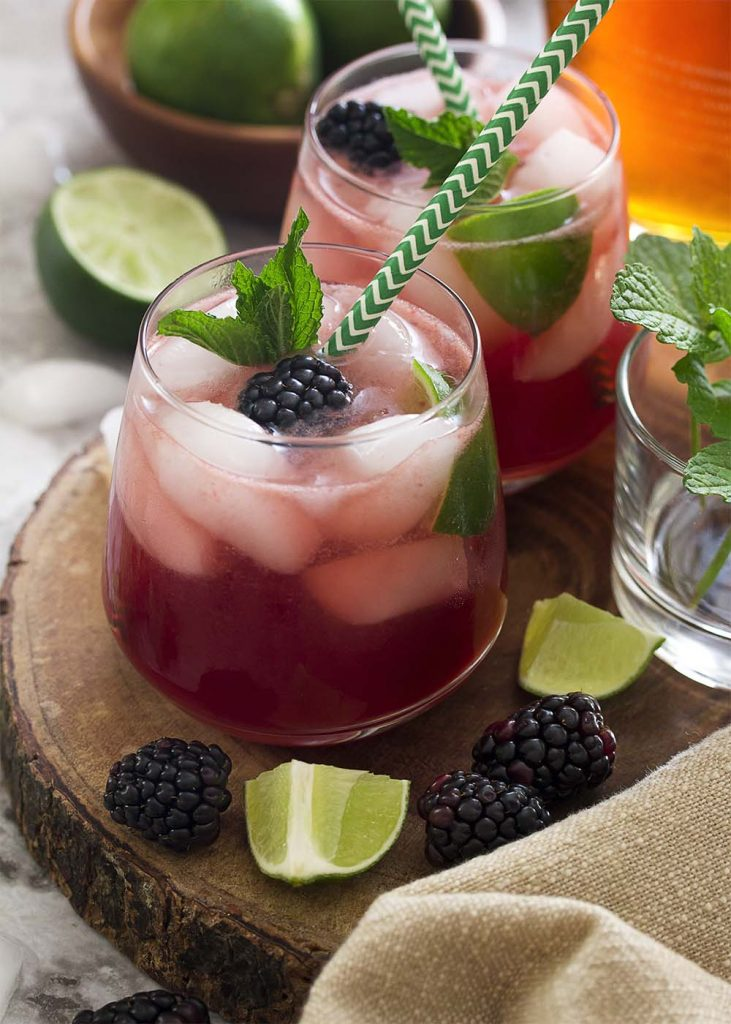 For an easy and refreshing summer cocktail bring together mint, lime juice, and rum along with fresh blackberries for a blackberry mojito! Great for a party or a warm evening on the deck.