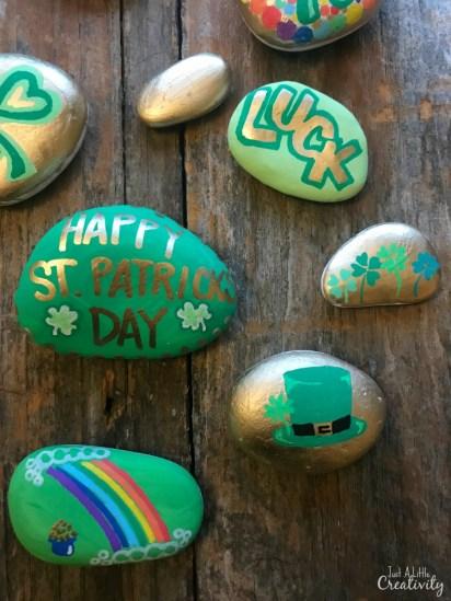 Happy St Patricks Day kindness rocks ideas