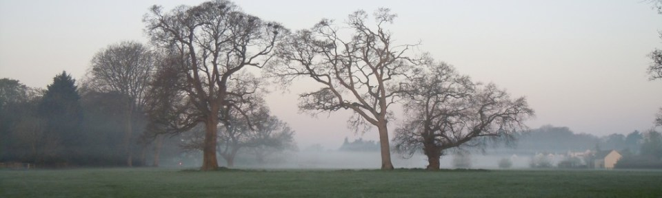 There was a low mist on that April morning.