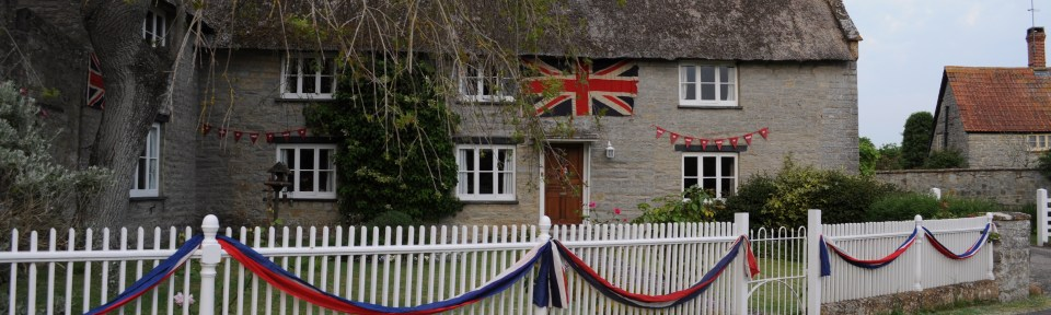 A Village House Decorated for the Jubilee Celebrations