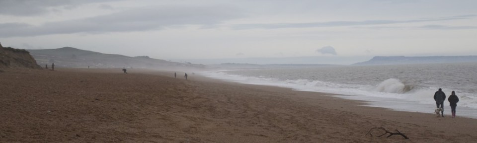 The Jurassic Coast on a Winter Day