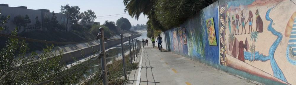 The bicycle path to Ballona Creek