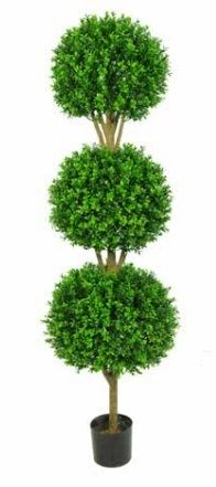 Artificial Topiary Boxwood Triple Ball Tree Just Artificial