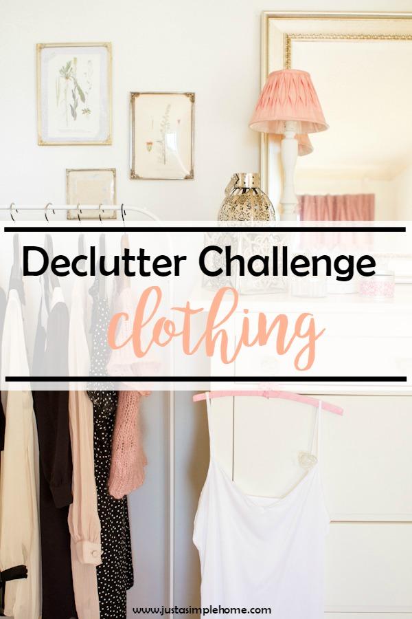 Declutter Challenge Clothes