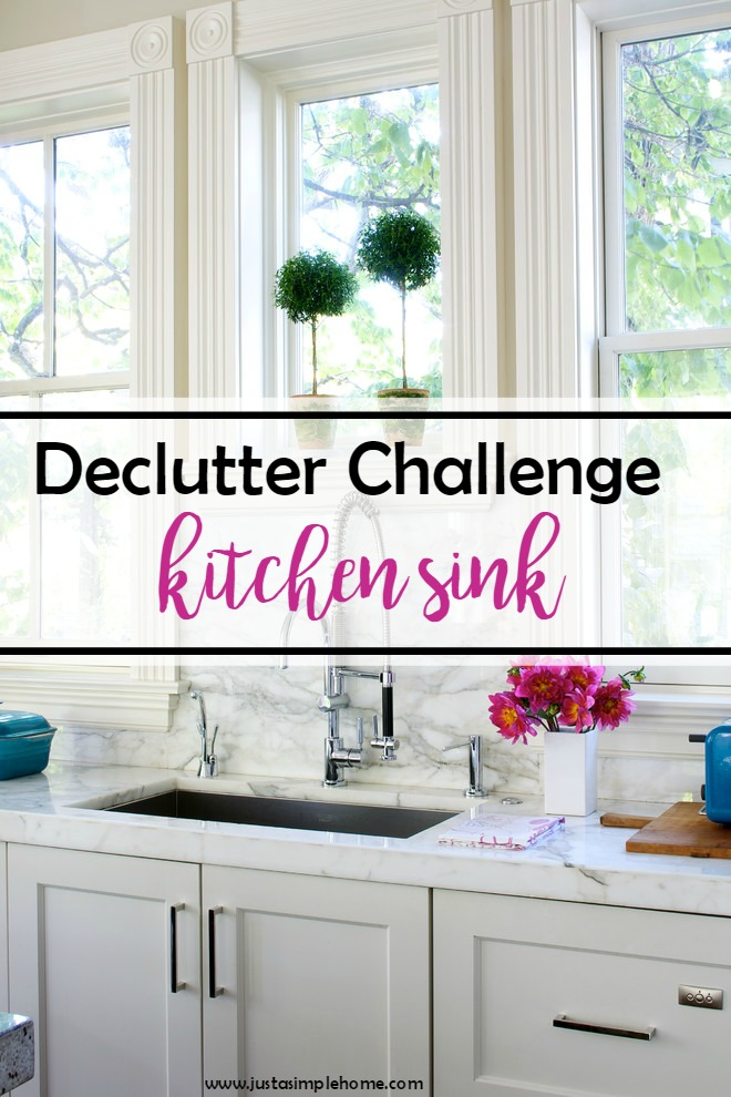 Declutter Challenge Kitchen Sink