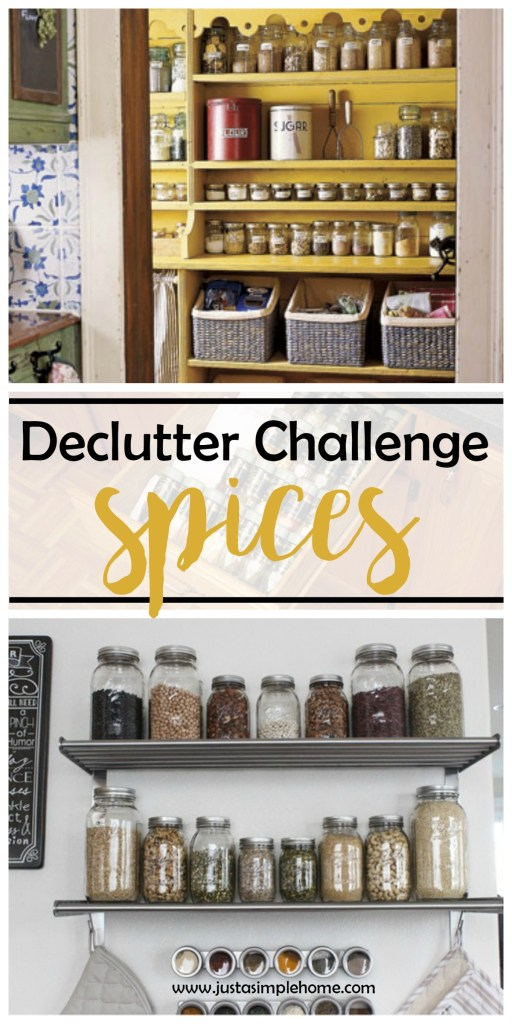 Declutter Challenge- spices