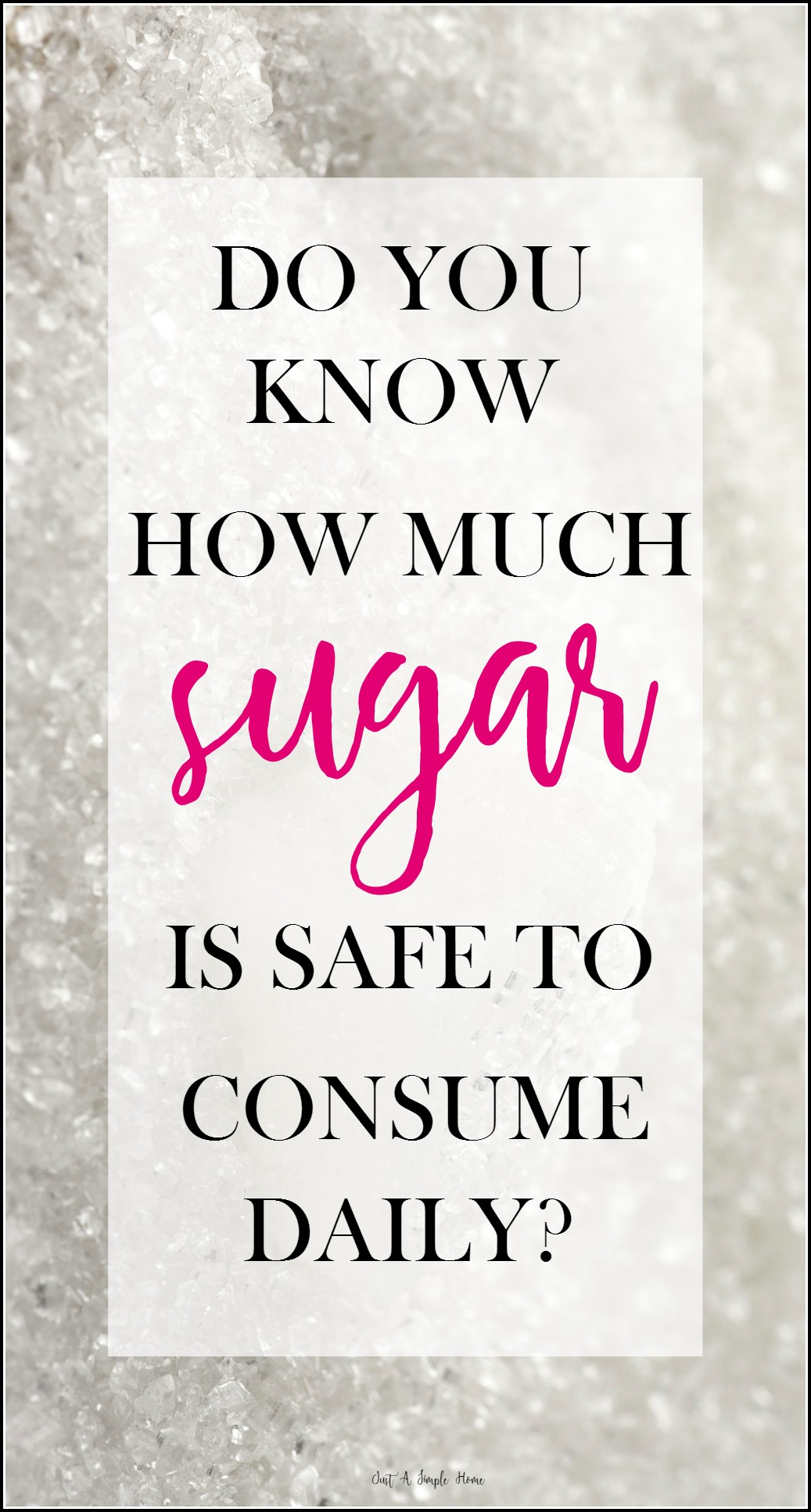 How Much Sugar Is Safe