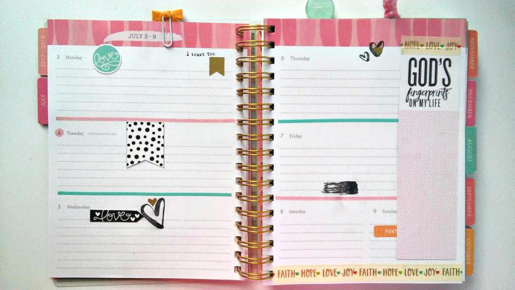 Planner Tips Planner organization planner setup