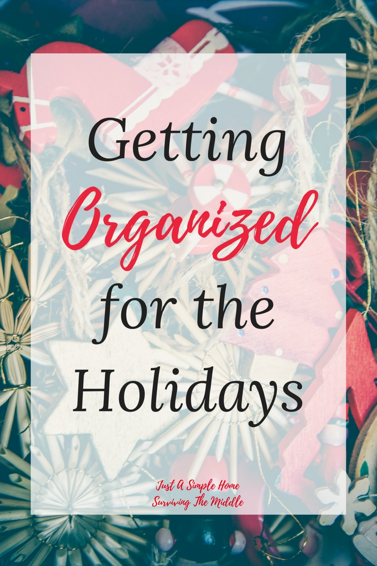 Getting Organized for the Holidays - Organzing for the Holiday Season - Tips to help you through the holidays